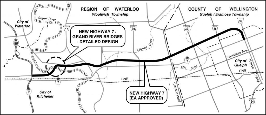 Hwy 7_Kitchener to Guelph key plan
